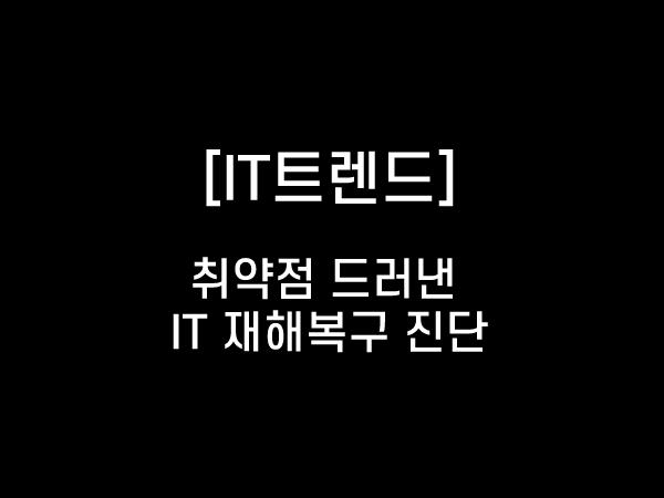[칼럼] 취약점 드러낸 IT 재해복구 진단
